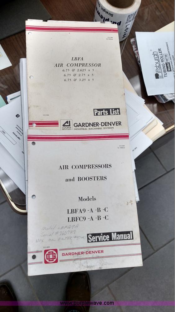 Gardner Denver LBFA9A Air Compressor Item L6142 SOLD Ma