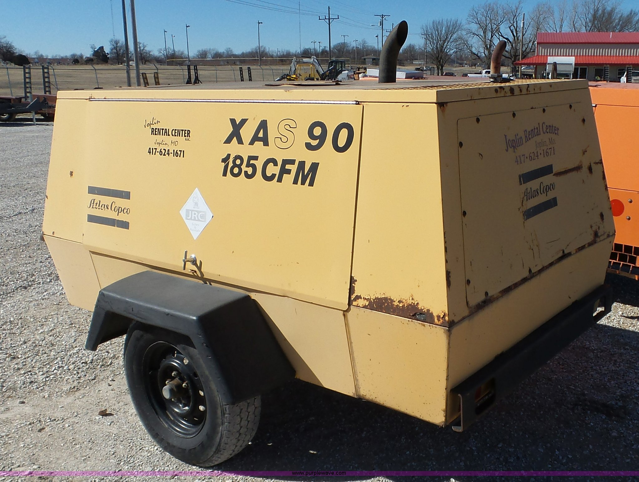 ... Atlas Copco XAS 90 air compressor Full size in new window ...