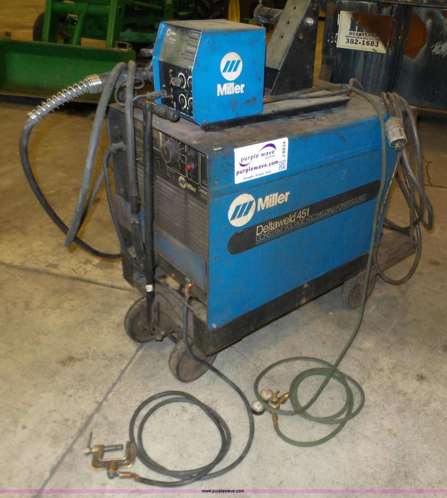 Miller Deltaweld 451 wire feed welder | Item J8834 | SOLD! M...
