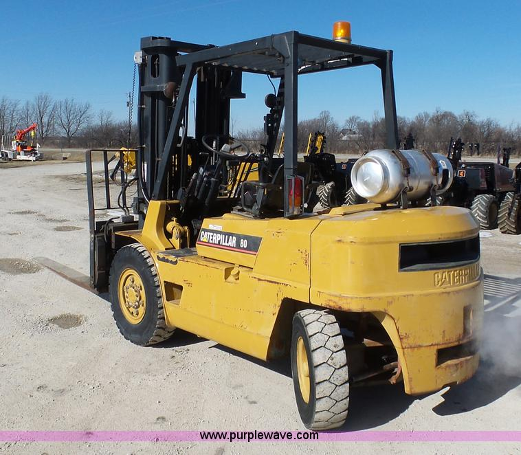 Caterpillar 80 forklift | Item AX9219 | SOLD! March 17 Const