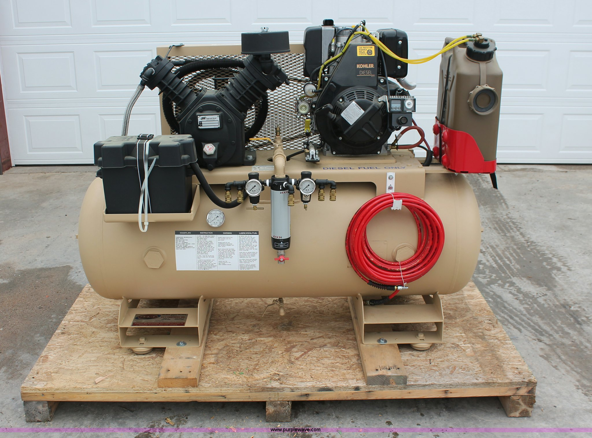Ingersoll Rand 2475 Air Compressor Item L6842 Sold Marc Wiring Diagram Full Size In New Window
