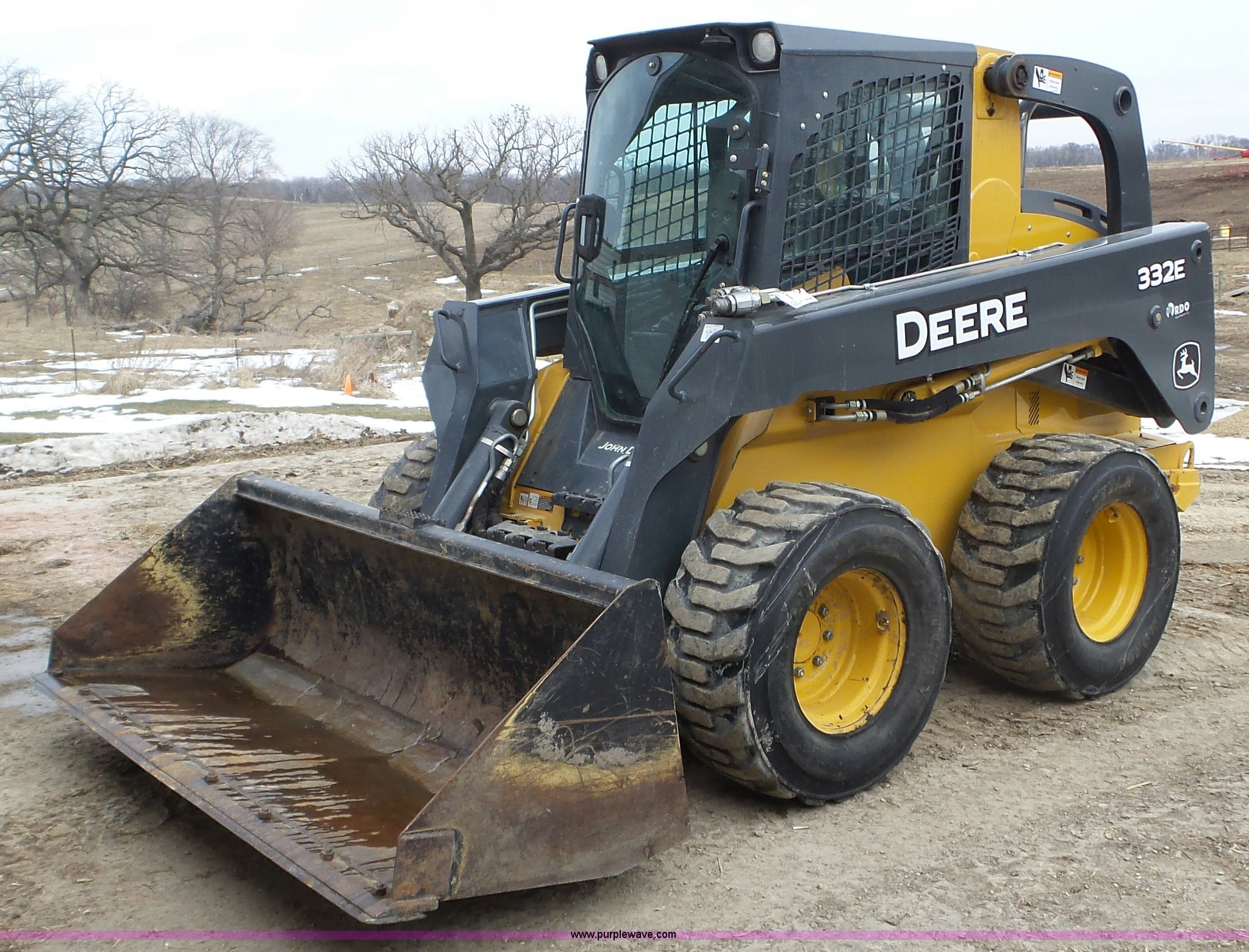 John Deere Skid Steer >> 2013 John Deere 332e Skid Steer Item K3494 Sold March 3