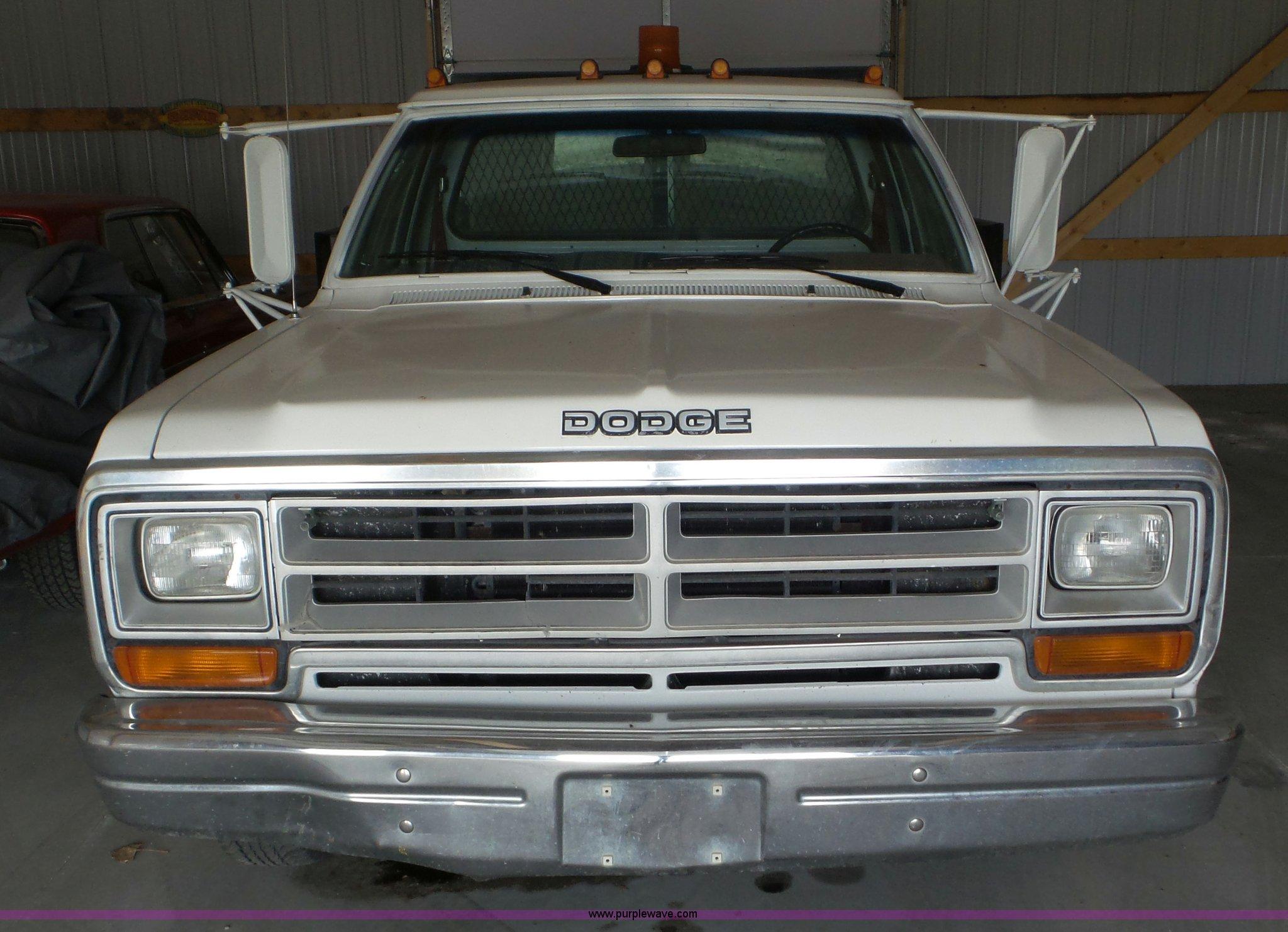 1988 Dodge D350 Flatbed Pickup Truck Item Av9818 Sold A Wiring Full Size In New Window