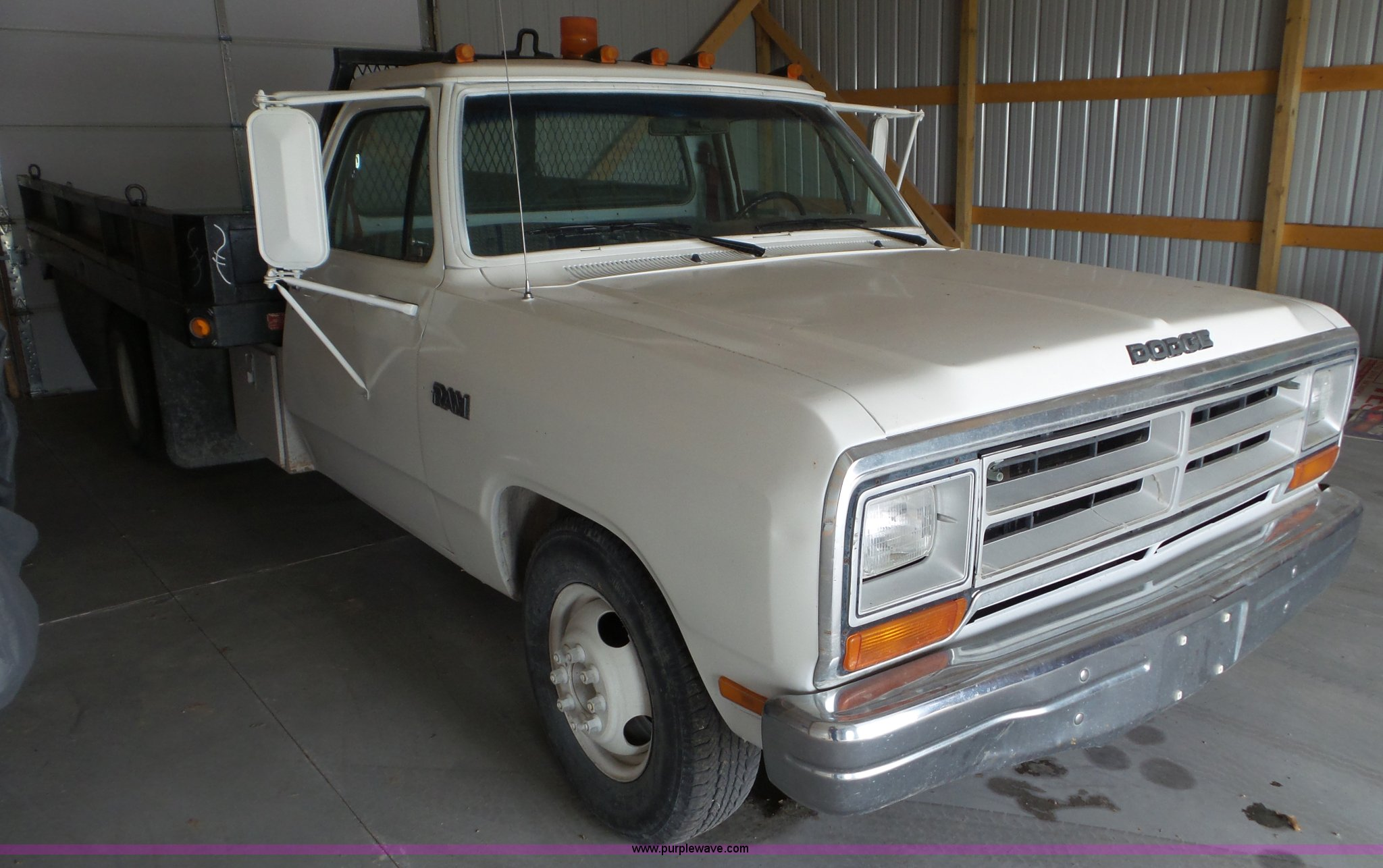 1988 Dodge D350 Flatbed Pickup Truck Item Av9818 Sold A Wiring Full Size In New Window