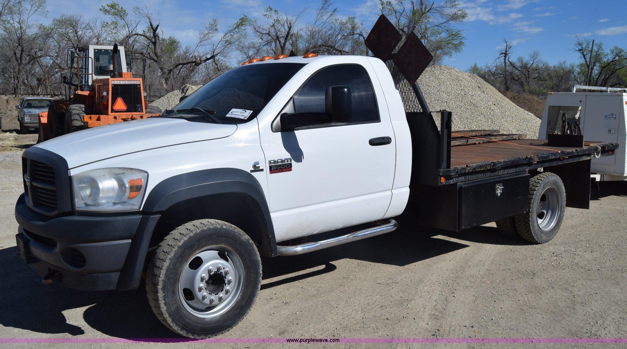 2008 Dodge Ram 5500 Flatbed Truck In Hutchinson Ks Item K4282 Sold Purple Wave