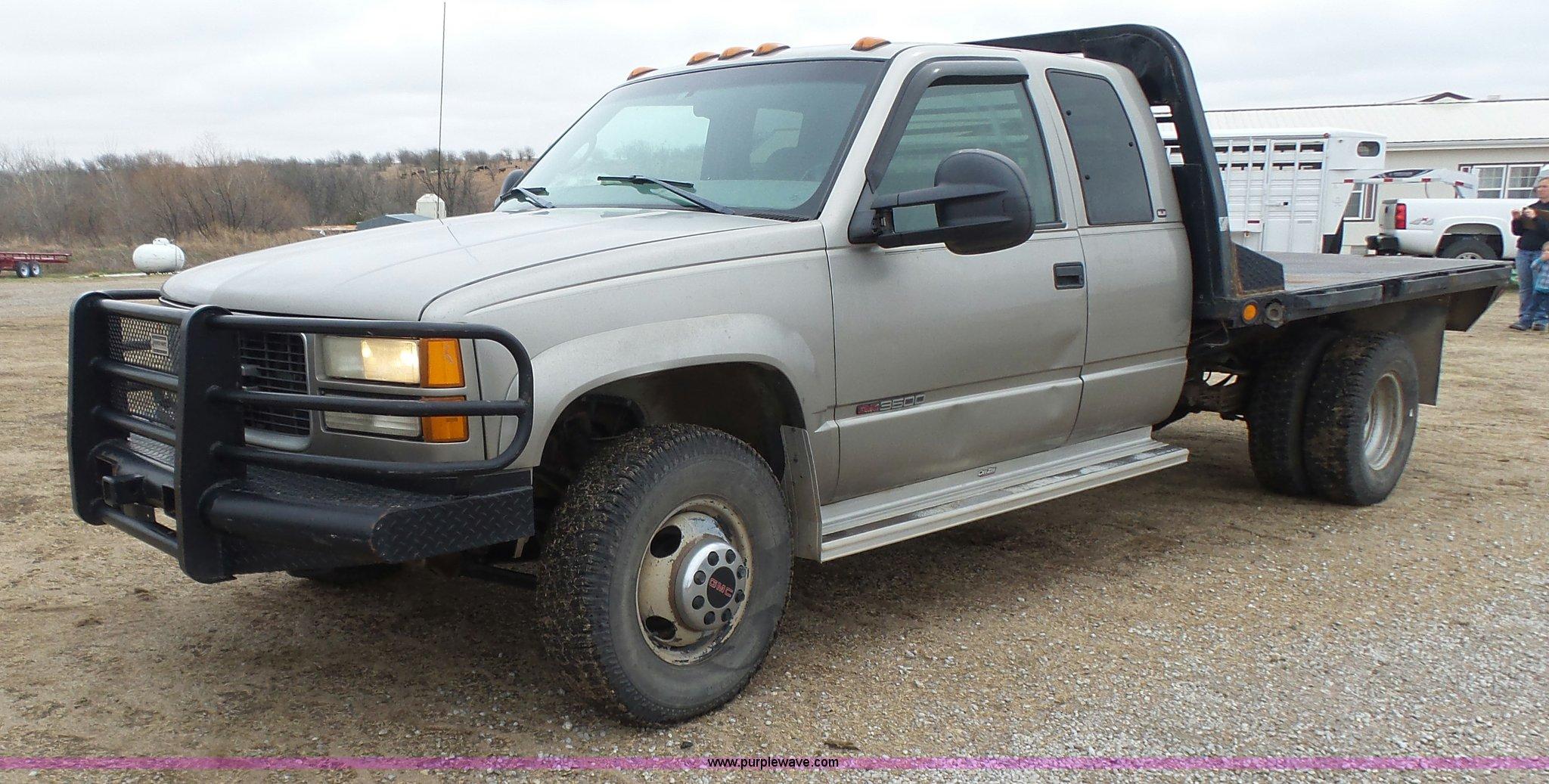 1998 Gmc Sierra 3500 Sle Ext  Cab Flatbed Pickup Truck