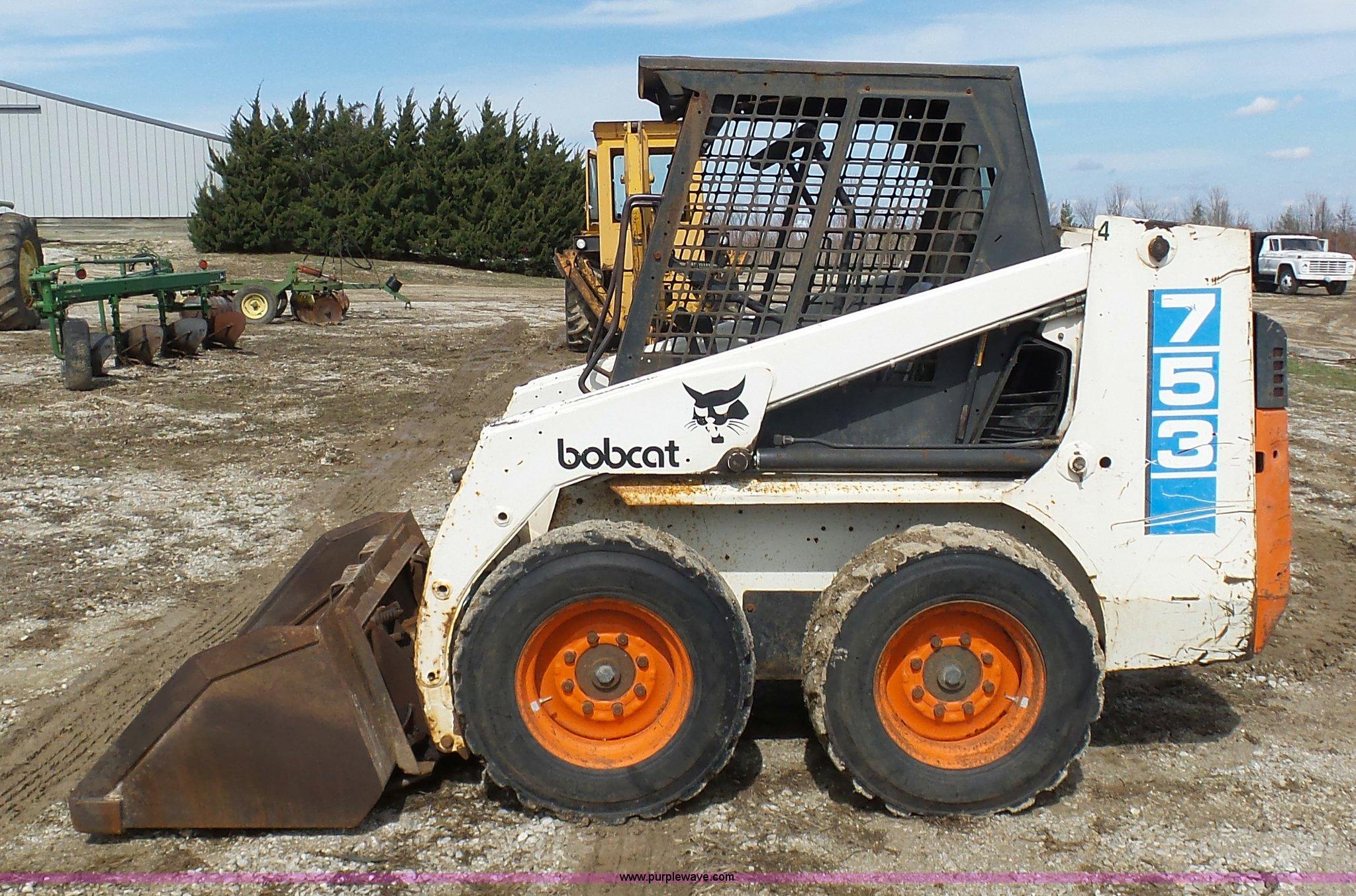 1991 Bobcat 753 Skid Steer Item K4290 Sold April 14 Con