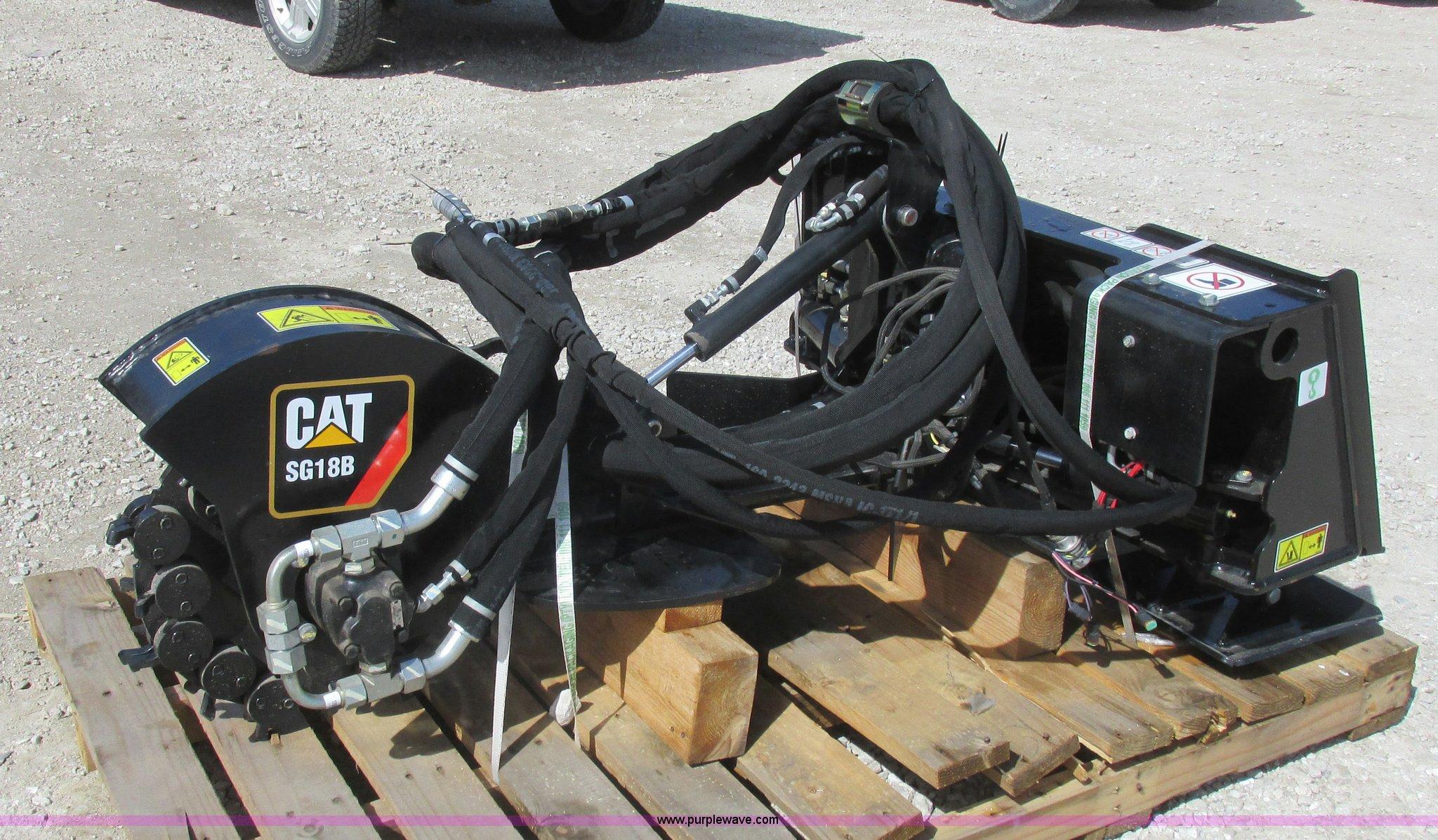 Caterpillar Sg18b Skid Steer Stump Grinder Item L7155 So