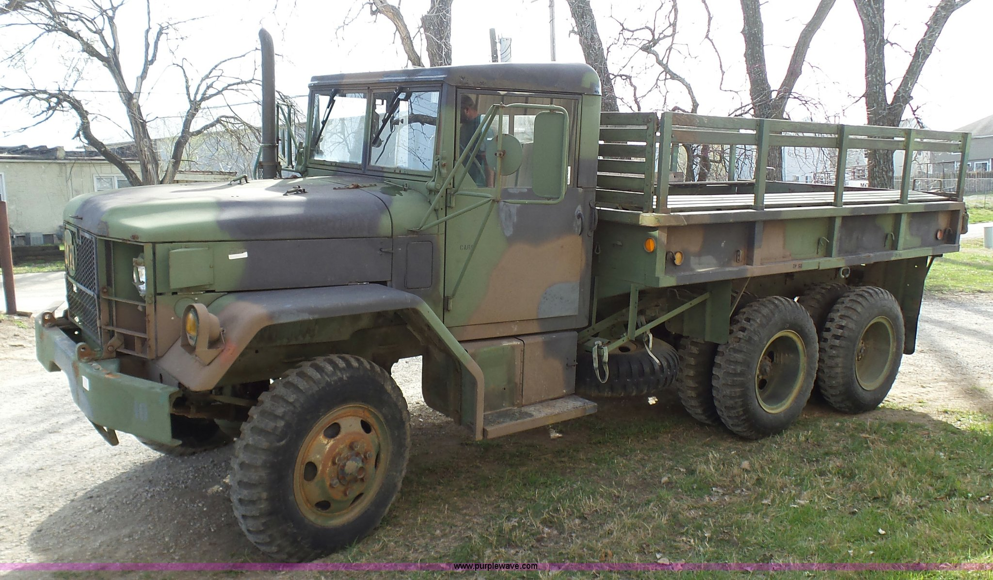 1982 Kaiser Jeep M35a2 Flatbed Truck Item K4301 Sold Ap