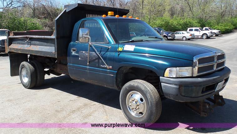 1995 Dodge Ram 3500 Dump Bed Pickup Truck Item K1344 Sol