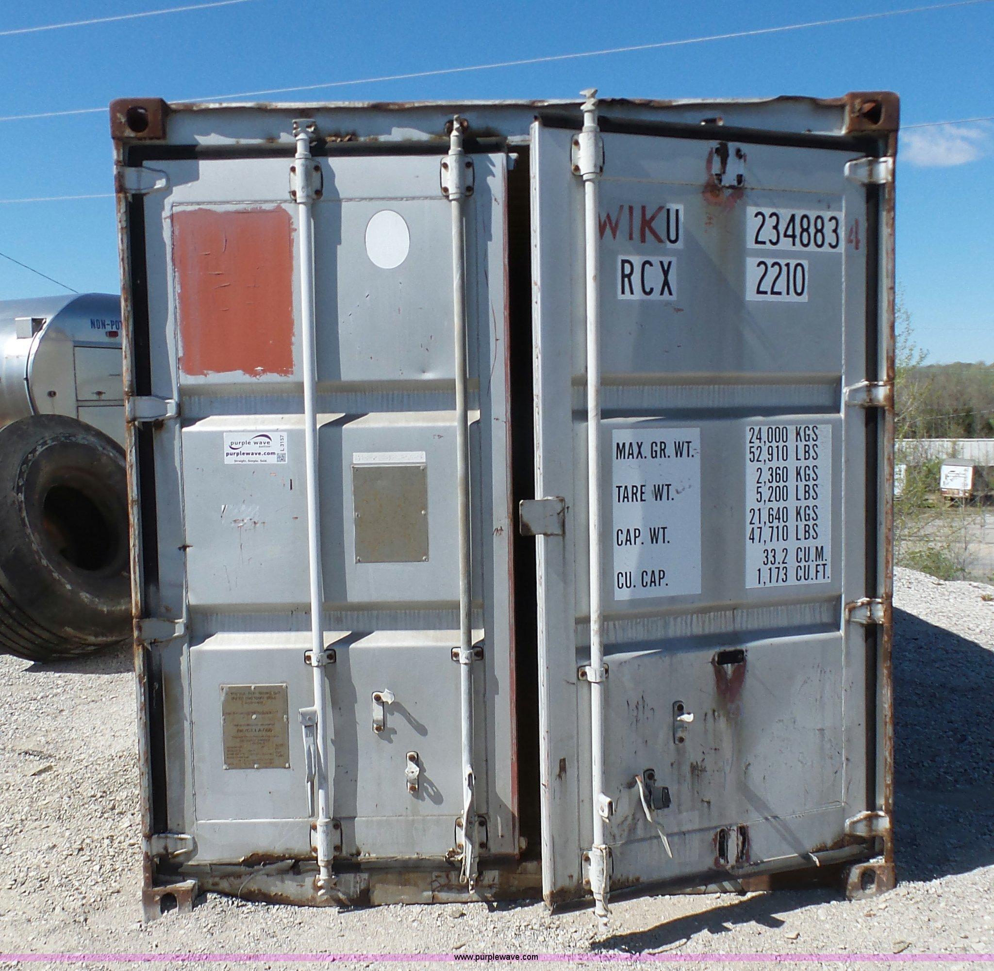 Conex storage container   Item L3157   SOLD! May 12 Construc