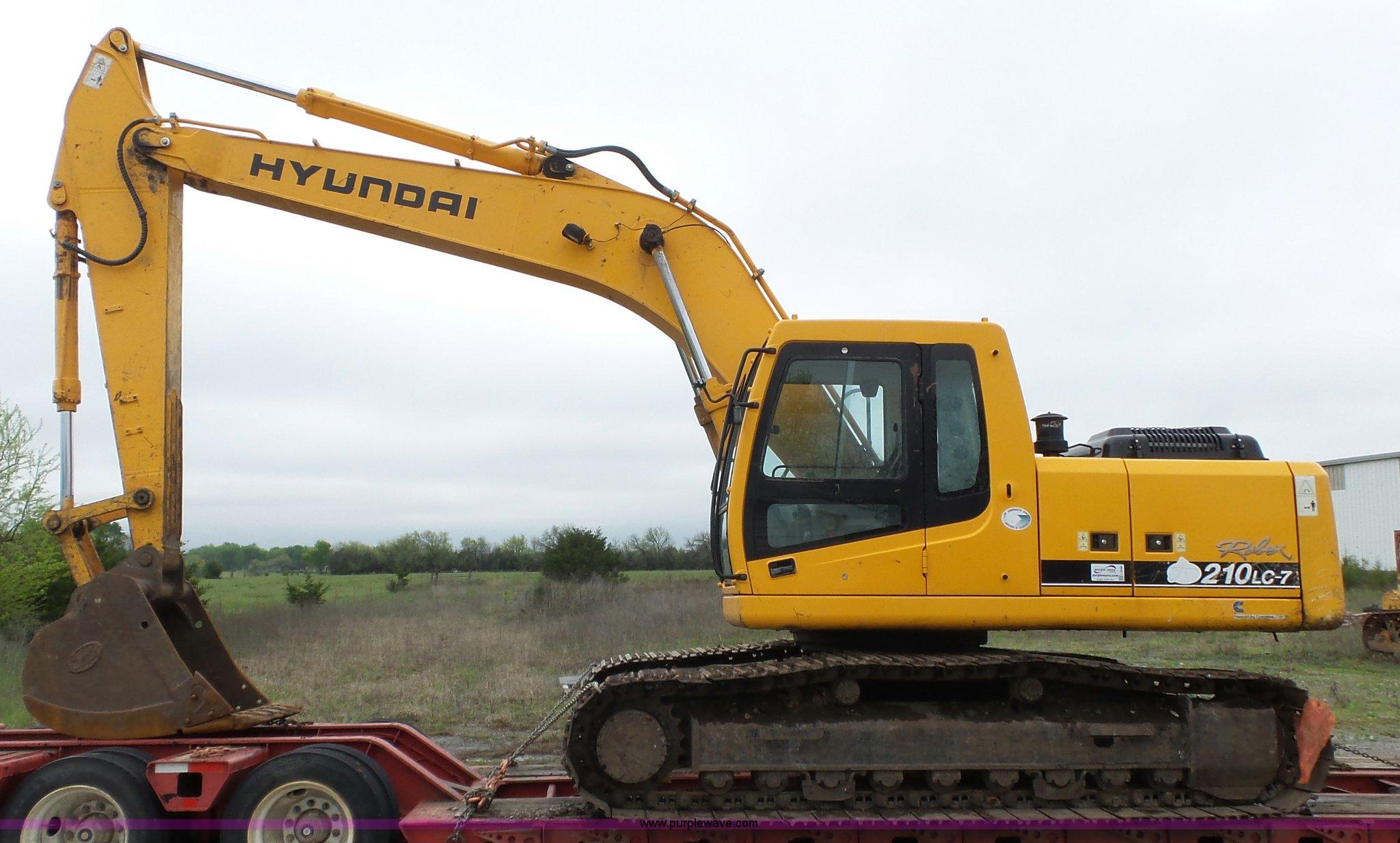 hyundai robex 210lc-7 excavator full size in new window