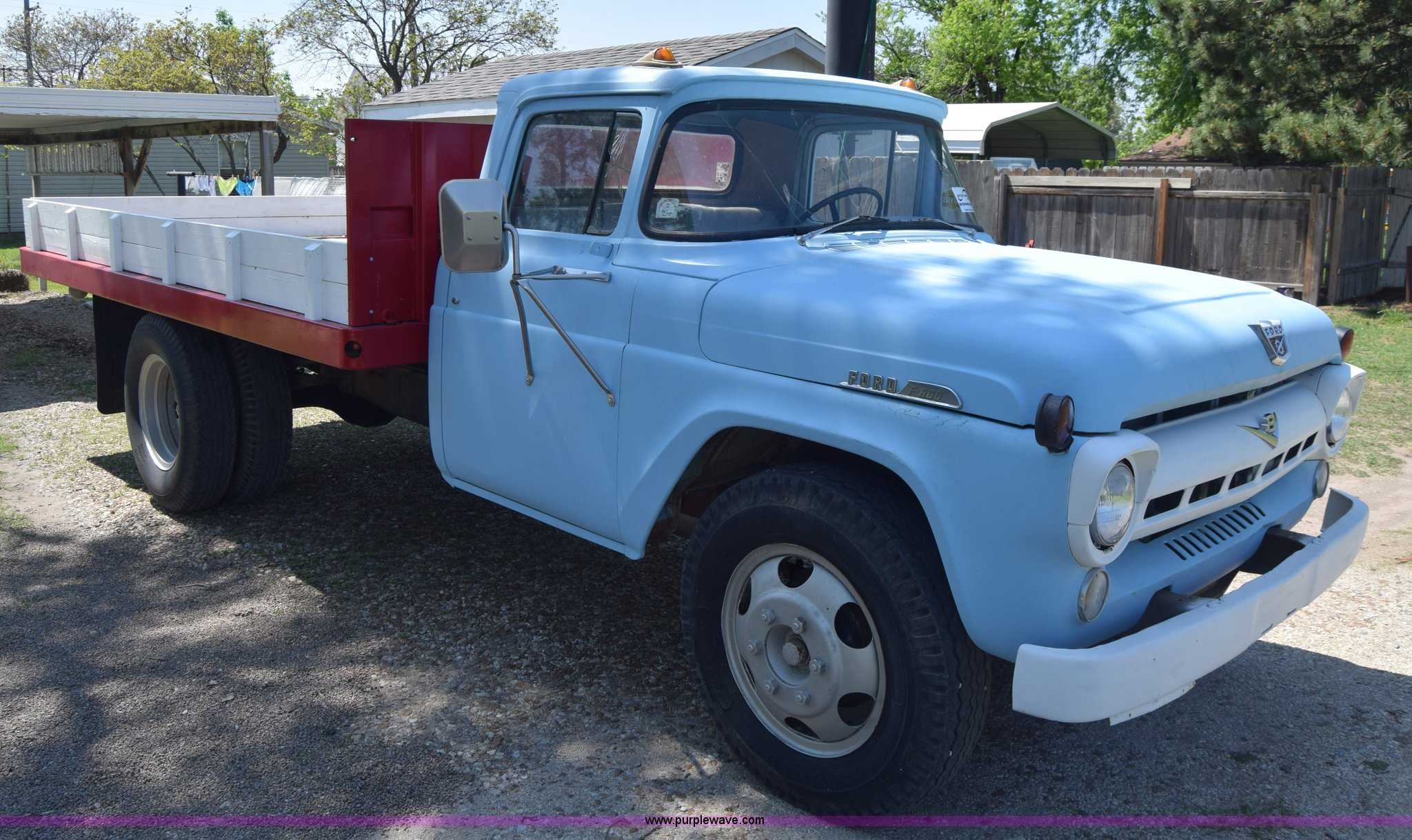 1957 ford f600 flatbed truck full size in new window