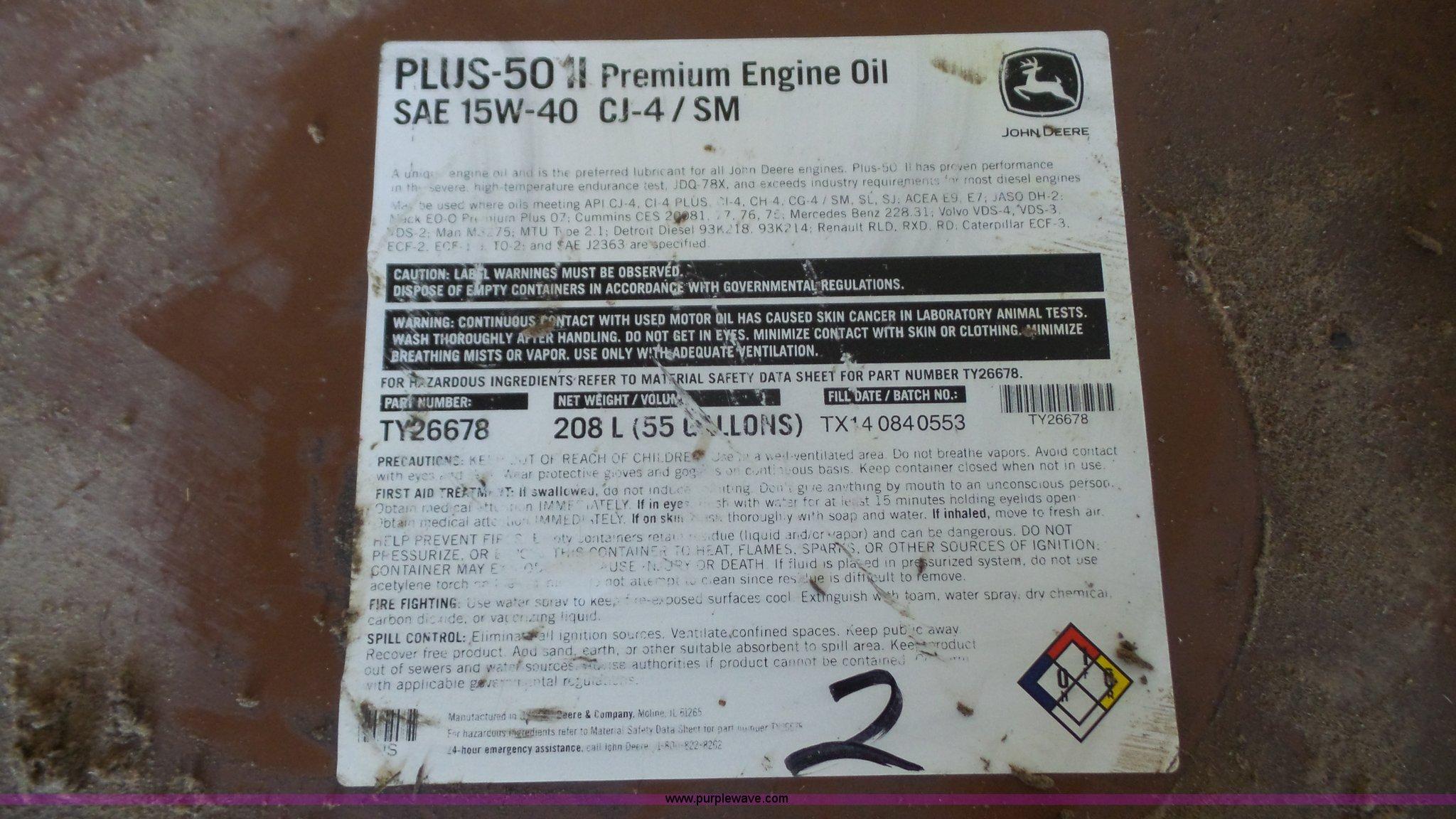John Deere Plus 50 drum | Item BN9623 | SOLD! May 25 Ag Equi
