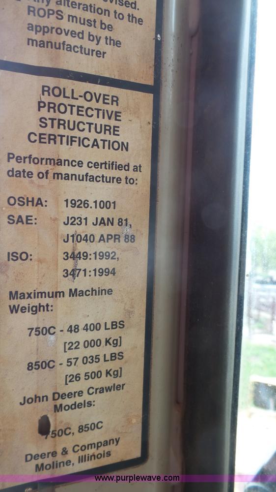 1999 John Deere 850C WT Series I Dozer Item K4515 SOLD