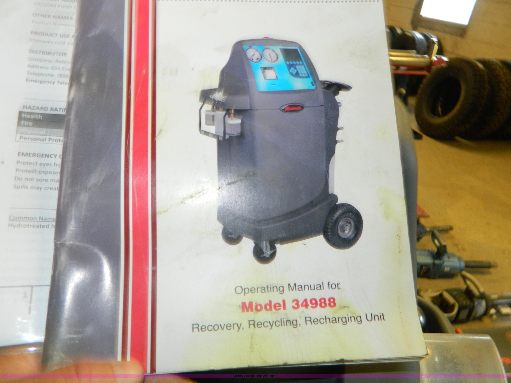 Cool-tech 34288 a/c recover, recycle, recharge machine | otc tools.