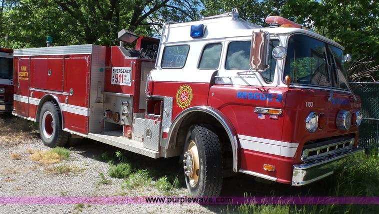 1985 Ford 8000 Fire Truck In Pleasanton  Ks