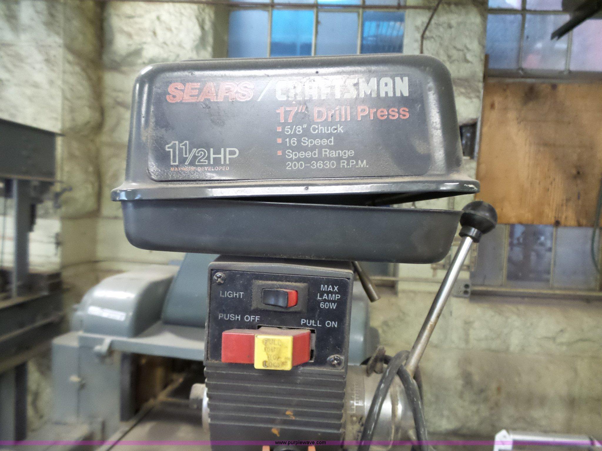 Craftsman drill press item br9235 sold june 7 for Craftsman 17 5 hp motor