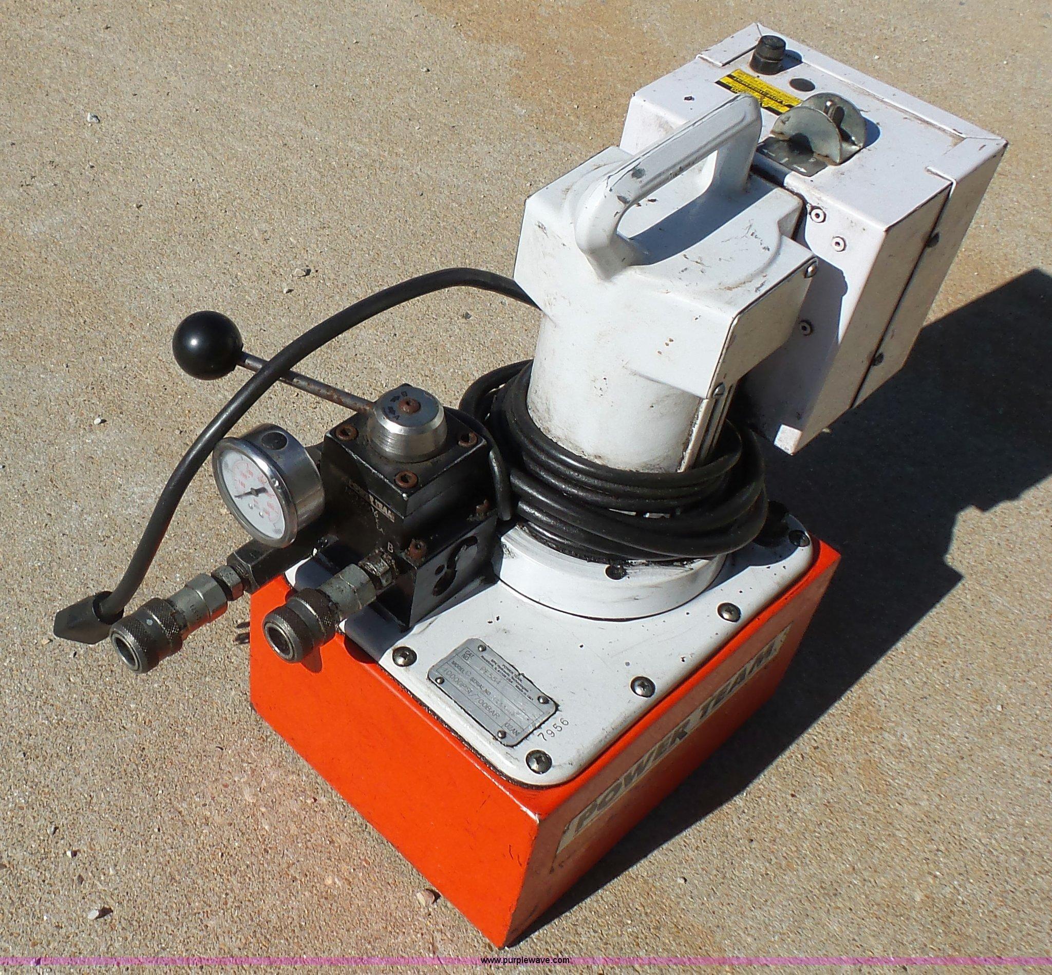 Power Team PE554 hydraulic pump   Item BN9505   SOLD! June 9