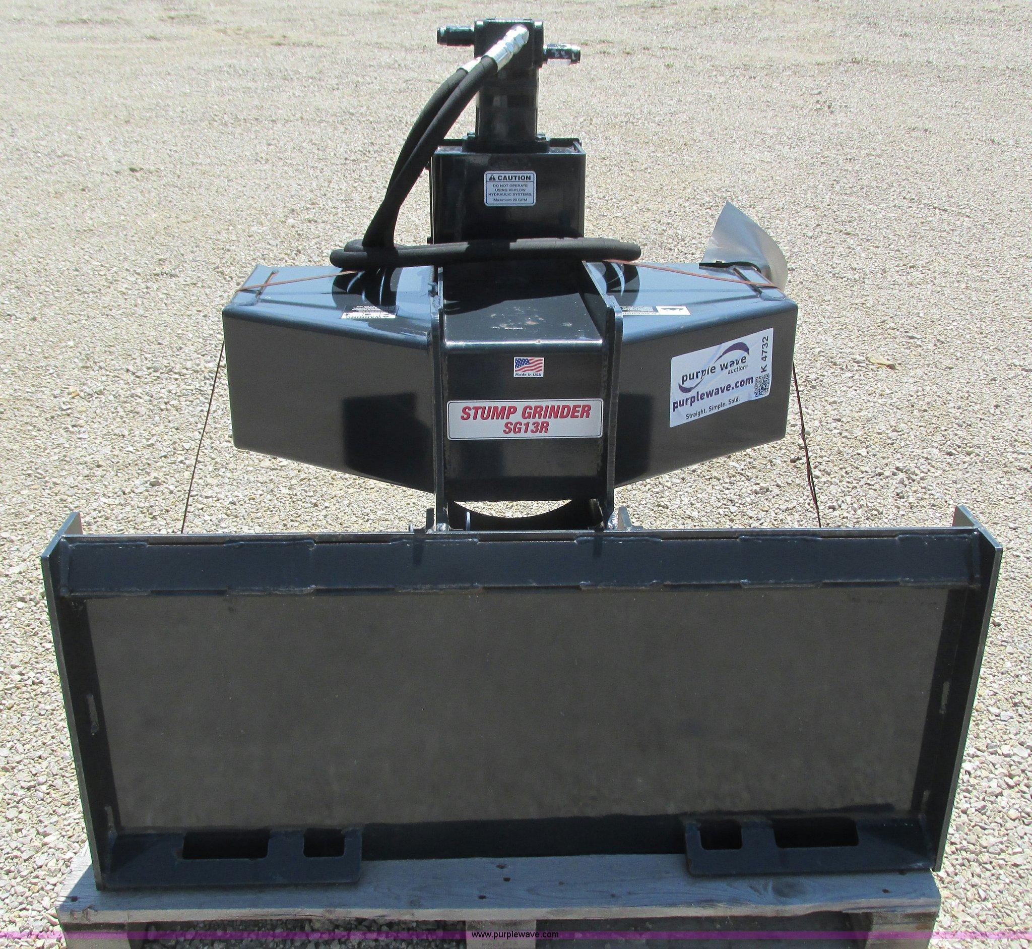 Stout Sg13r Skid Steer Stump Grinder Item K4732 Sold Ju
