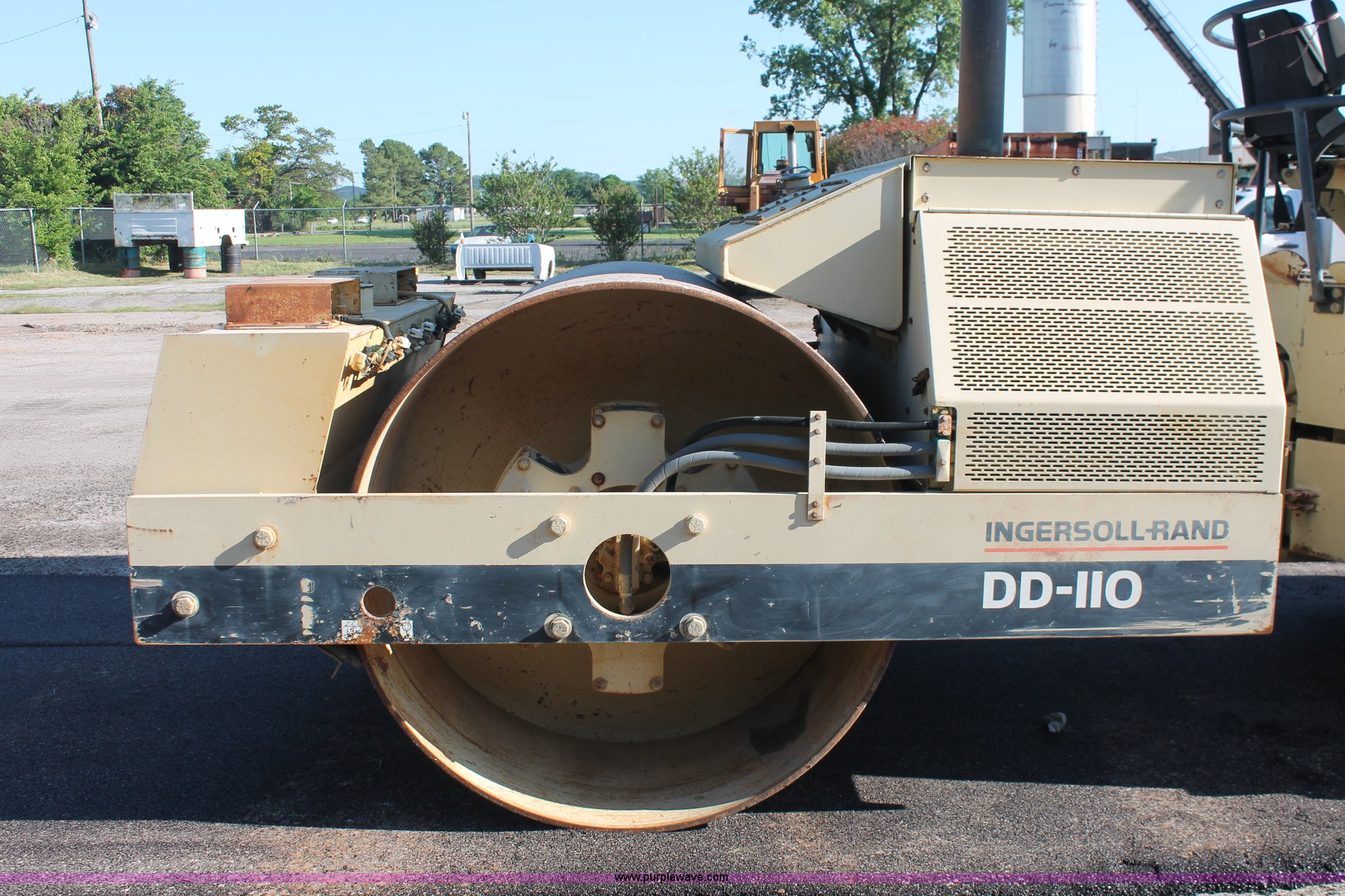 ... Ingersoll Rand DD-110 double drum vibratory roller Full size in new  window ...