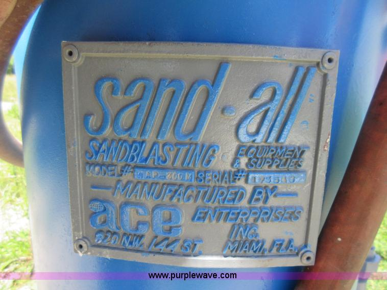l2836 image for item l2836 ace sand all sandblaster