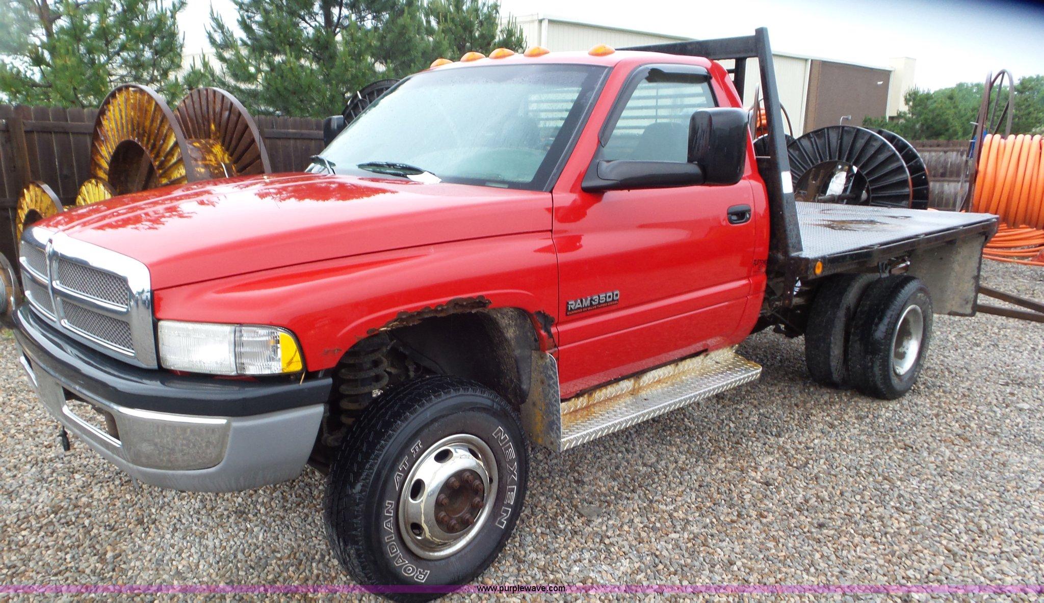 2001 Dodge Ram 3500 Flatbed Pickup Truck In Olathe Ks Item L2070 Sold Purple Wave