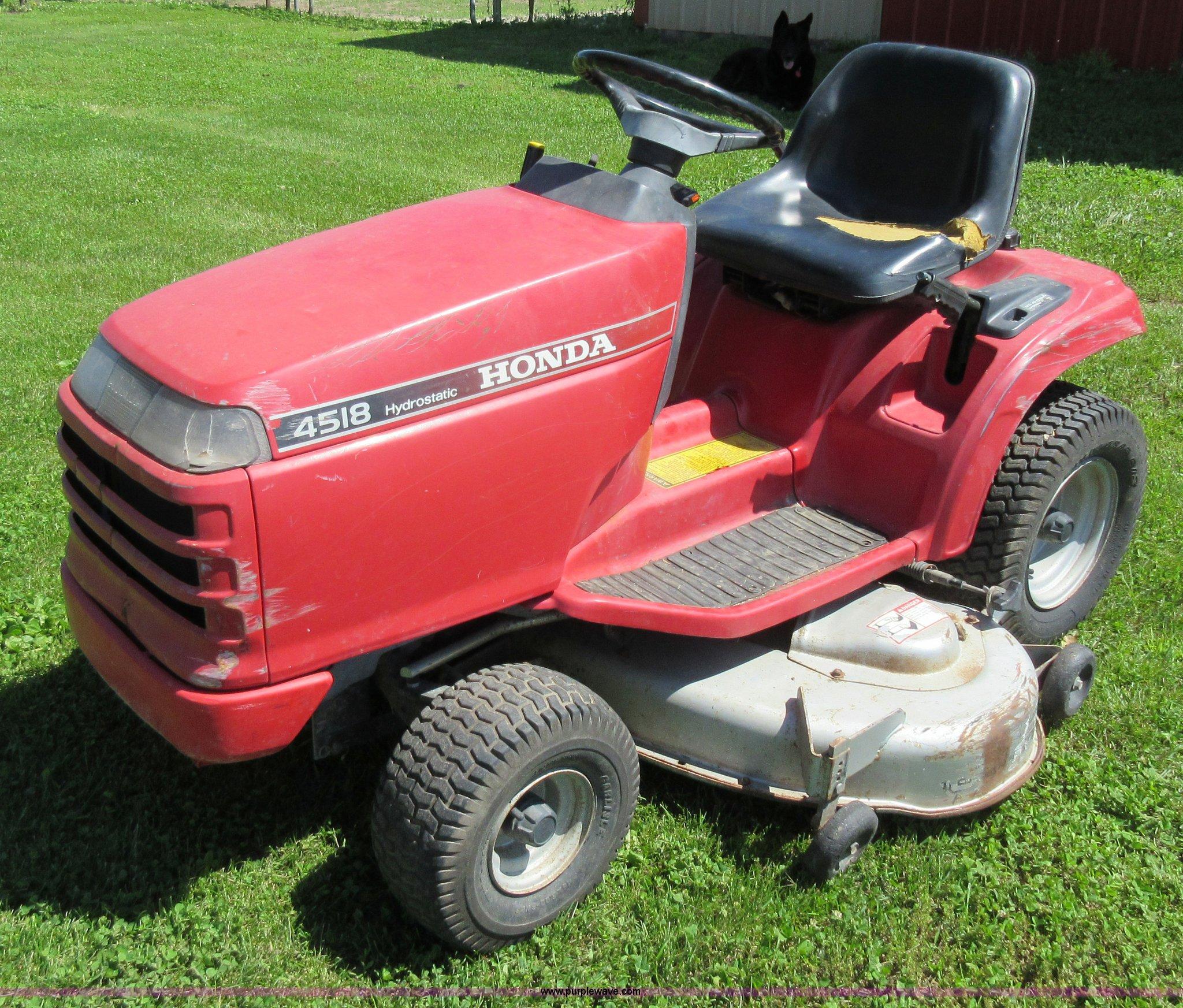 Honda H4518h 4518 Lawn Tractor Service Repair Manual Nemetas 4514 Wiring Diagram Schematic Mower Item L2783 Sold July 6 Vehicles A Rh Purplewave Com