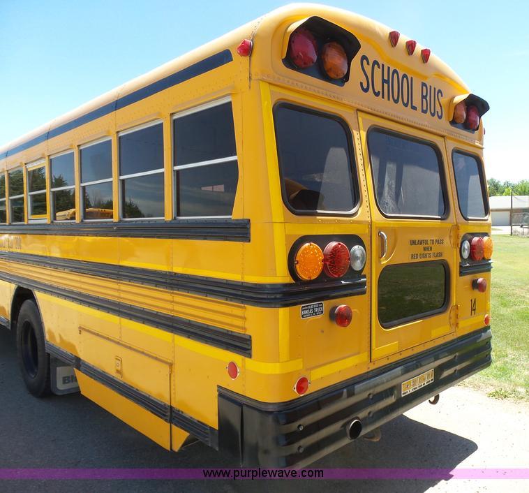 1992 Blue Bird Tc2000 School Bus Item J6118 7 12 2016