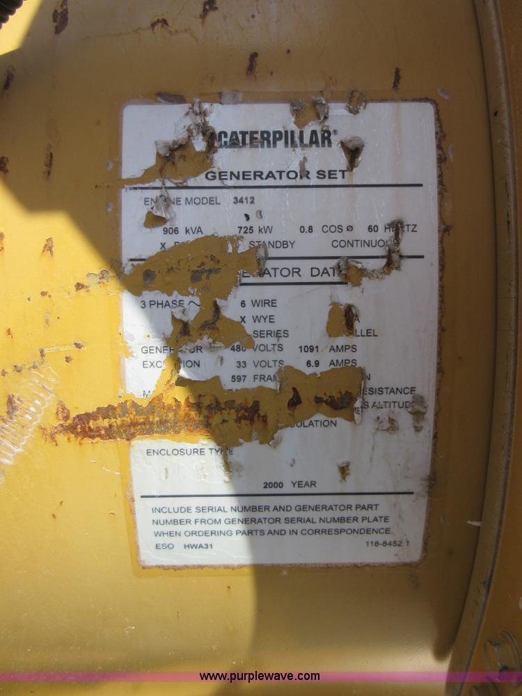 2000 Caterpillar 3412 SR4B generator | Item K7899 | SOLD! Ju