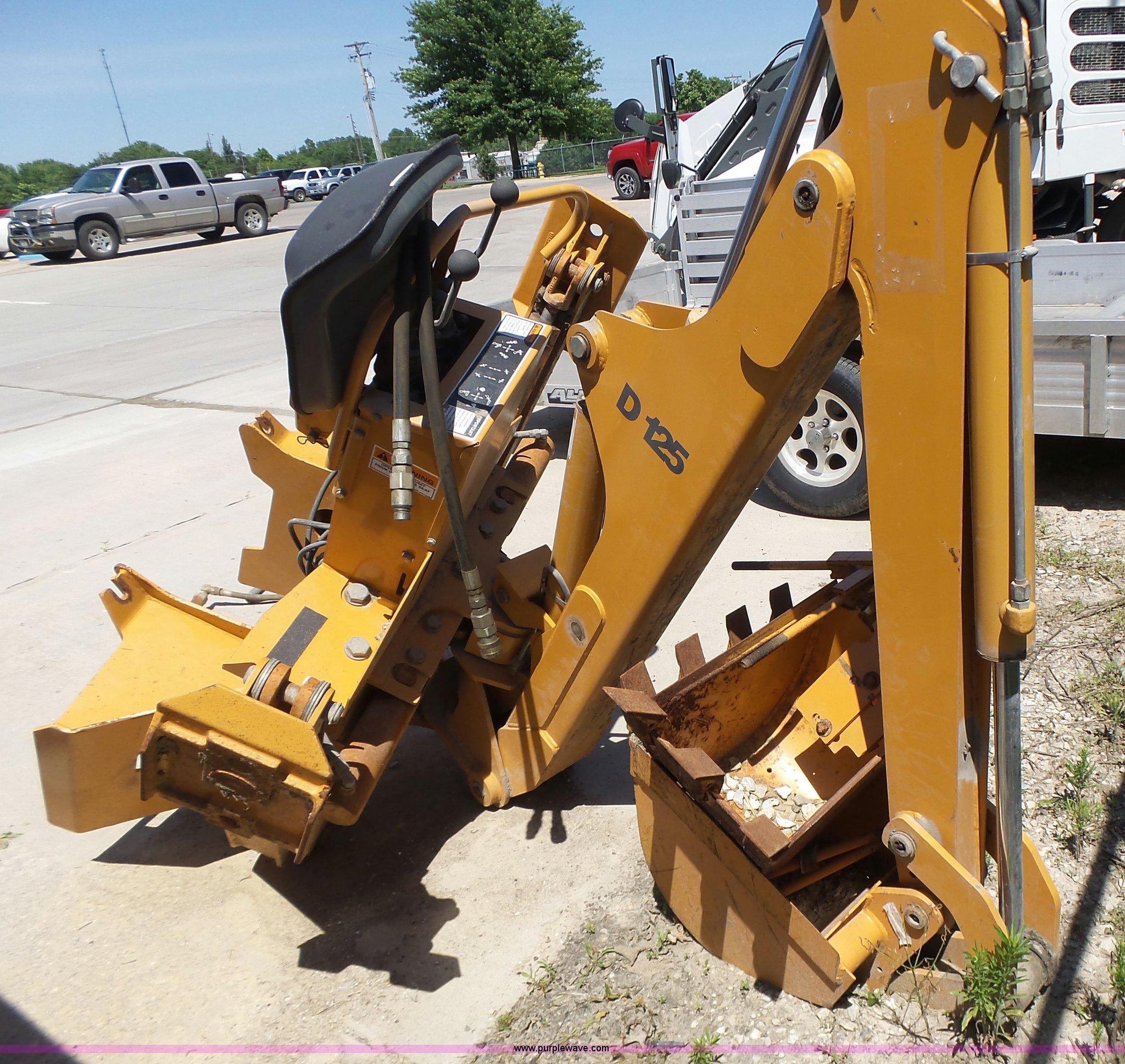 Case D125 skid steer backhoe attachment   Item L6099   SOLD!
