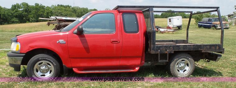 1997 Ford F150 Xlt Flatbed Pickup Truck Item J4898 Sold