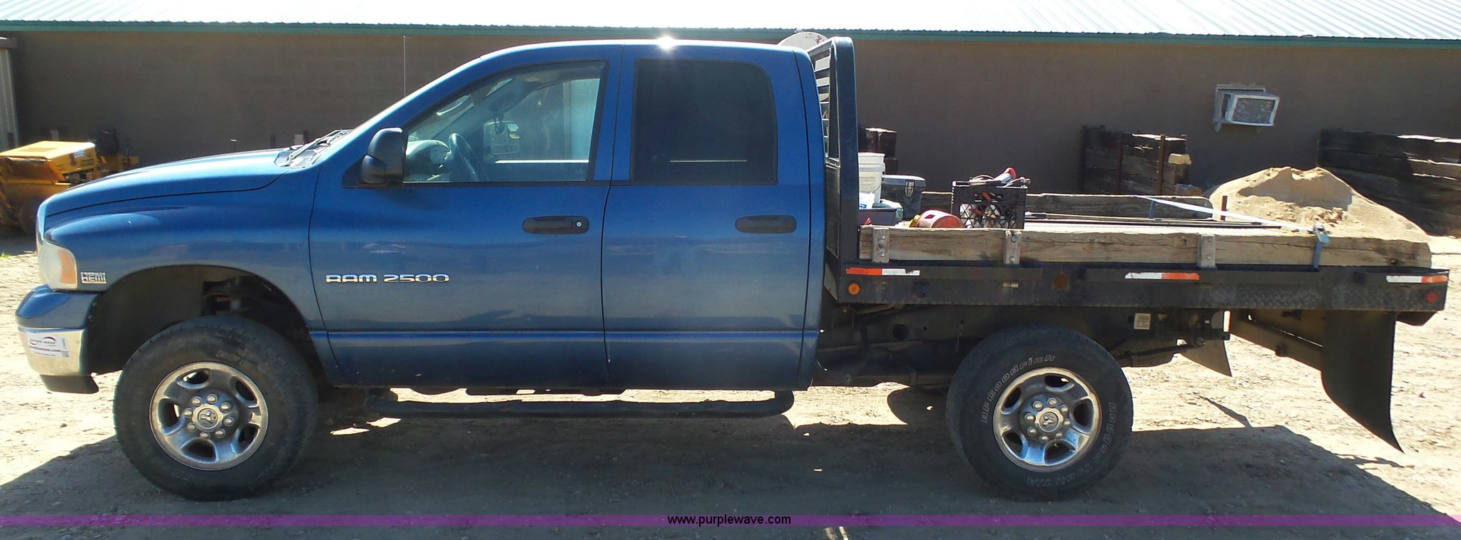 2004 Dodge Ram 2500 Quad Cab Flatbed Pickup Truck In Liberal Ks Item J6042 Sold Purple Wave