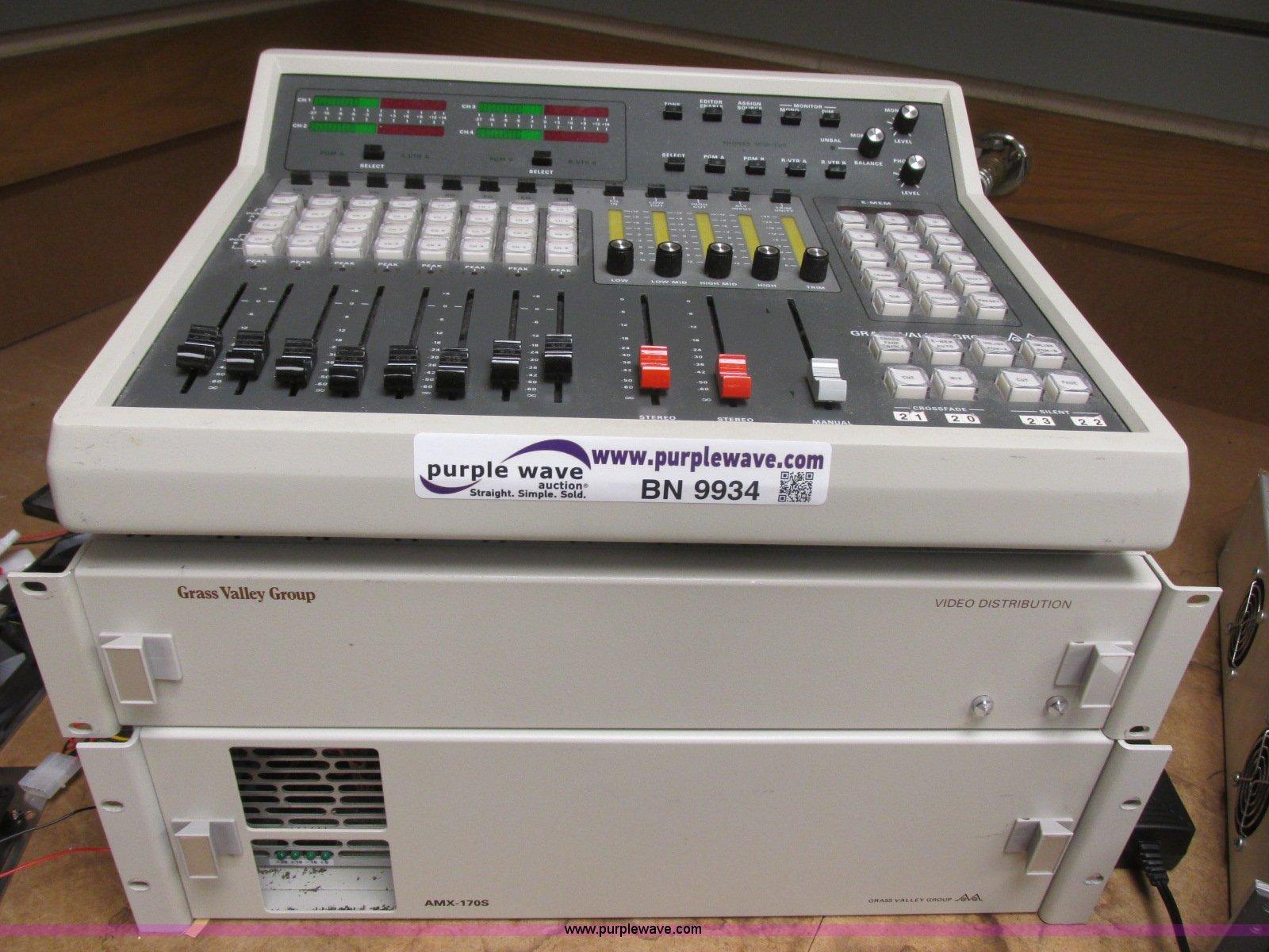 Grass Valley AMX-170 audio mixer for editor | Item BN9934 |