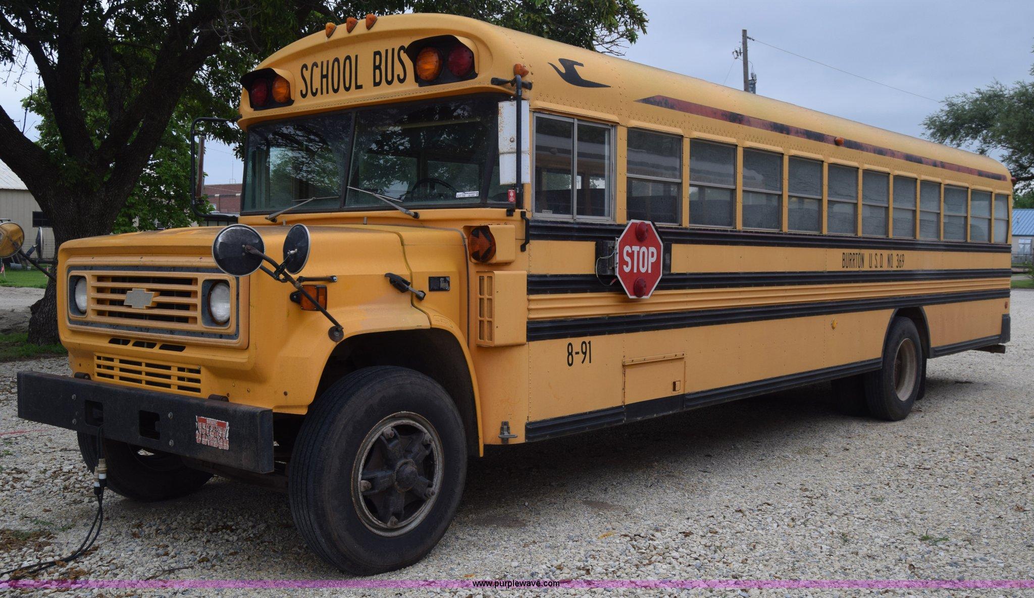 Blue Bird Bus >> 1991 Chevrolet Blue Bird School Bus Item Cb9291 Sold Au