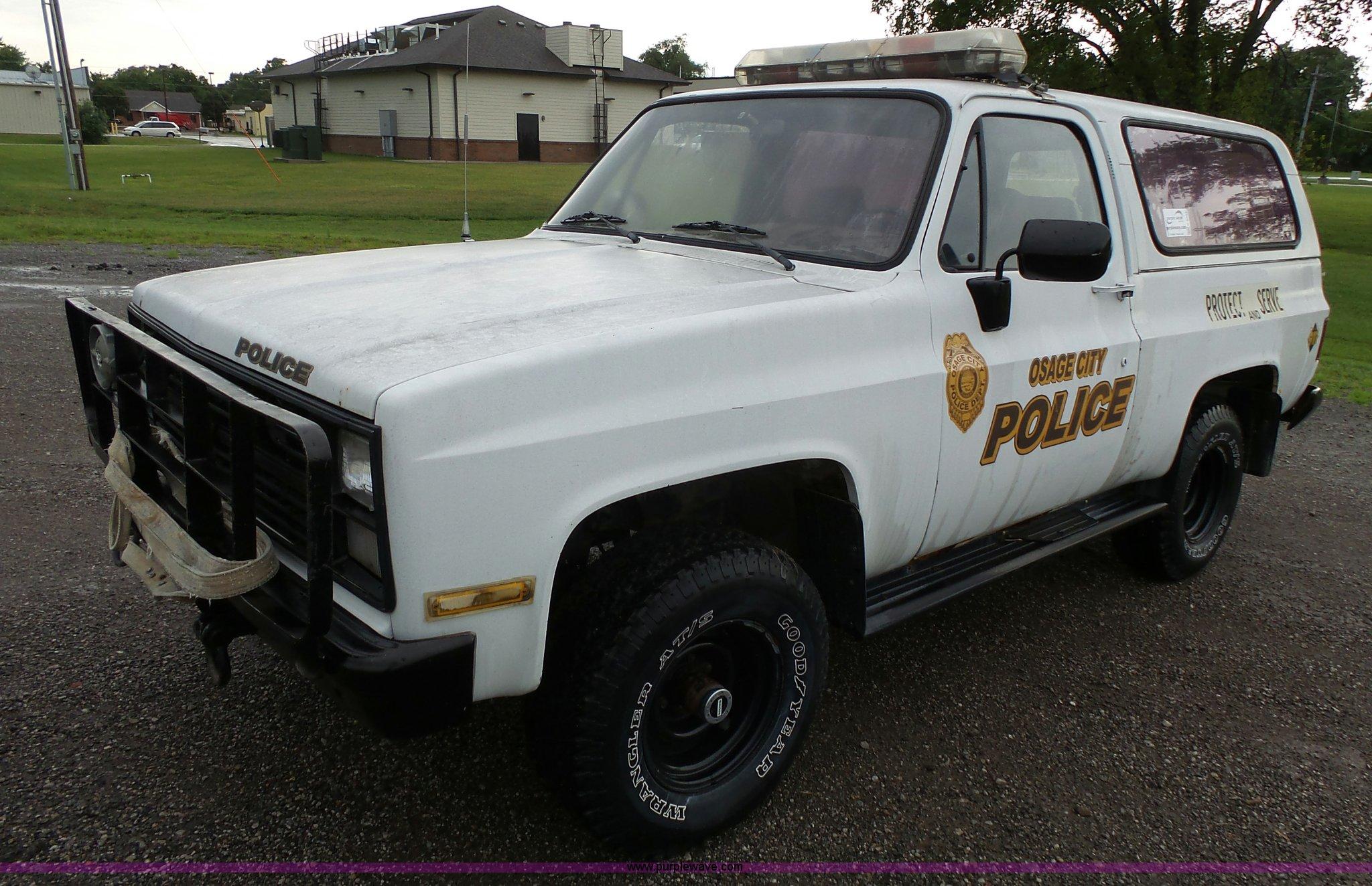 c33e25e834 K5361 image for item K5361 1984 Chevrolet D10 Military Blazer SUV