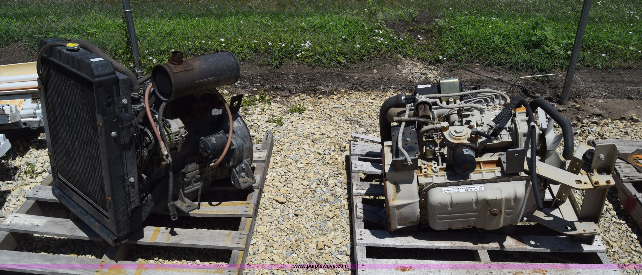 2) Yanmar four cylinder diesel engines | Item BF9796 | SOLD