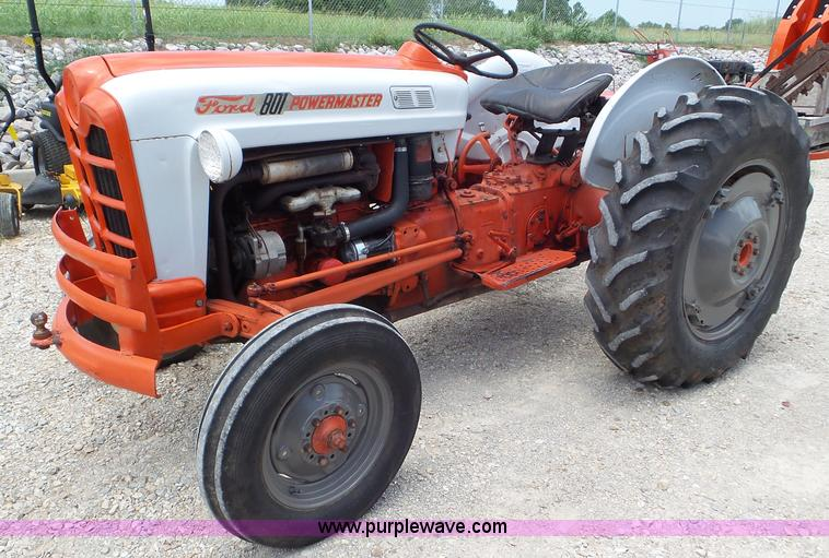 801 Ford Tractor : Ford powermaster tractor item l sold august
