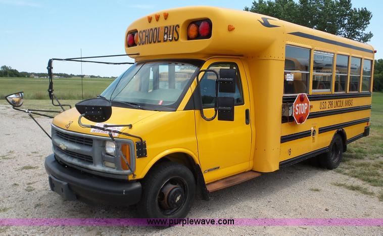 2000 Chevrolet Express G3500 school bus  Item K5253  SOLD