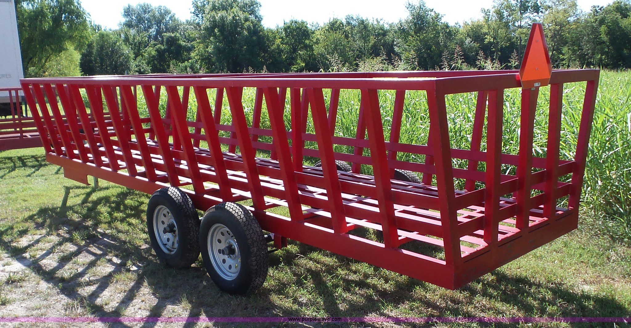 bale apache in wagon hay auction full feeder new sold november round size window item