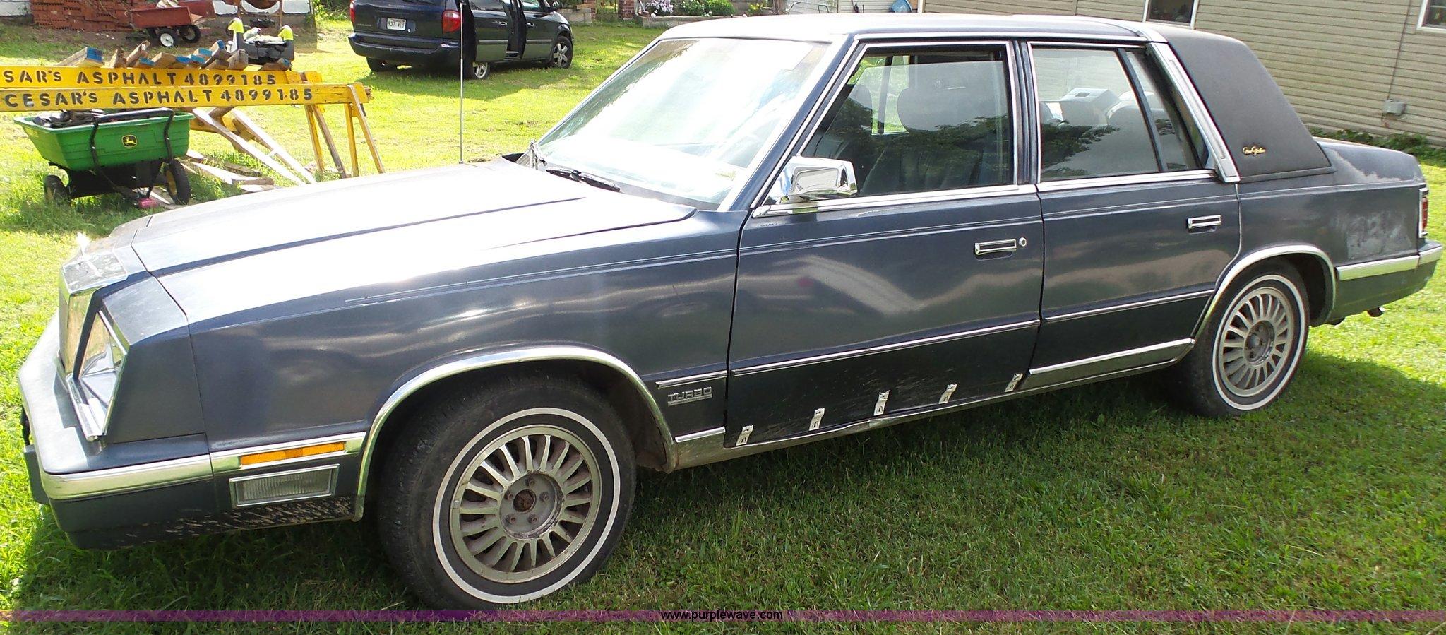 1987 chrysler new yorker in monett mo item k1161 sold purple wave 1987 chrysler new yorker in monett mo