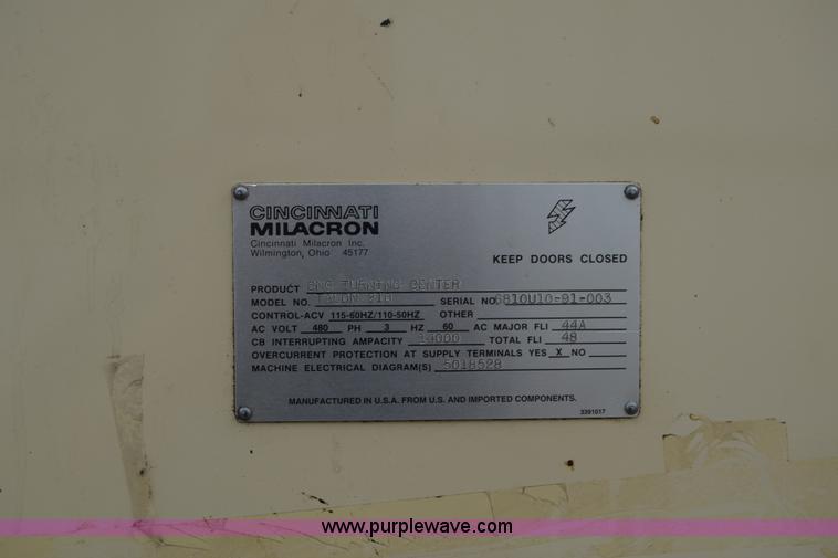 Super Cincinnati Milicron Talon 210 Cnc Lathe Item Ca9926 Sold Wiring Digital Resources Attrlexorcompassionincorg