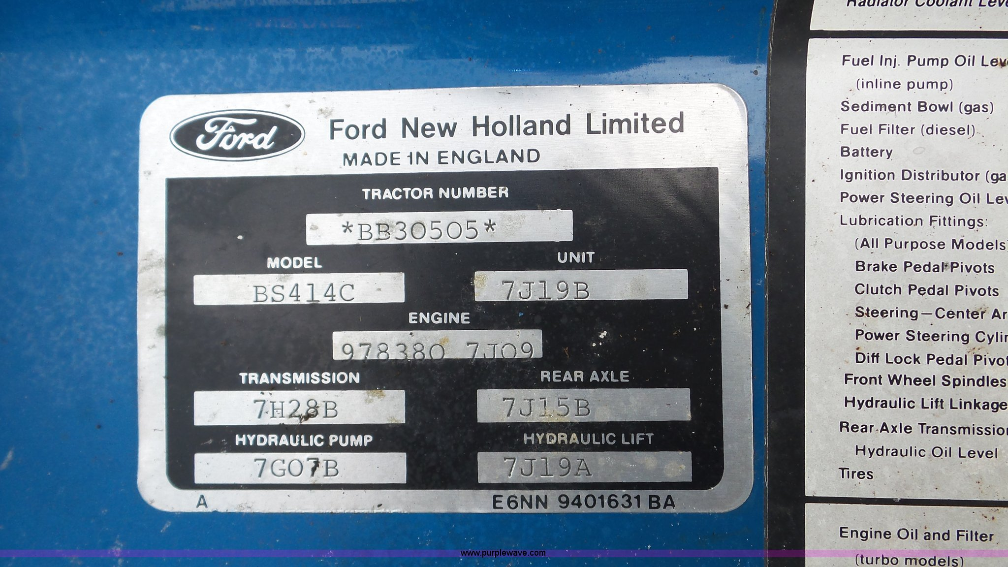 Ford 2810 Tractor Item Da8804 Sold September 28 Vehicle Wiring Diagram Series Full Size In New Window