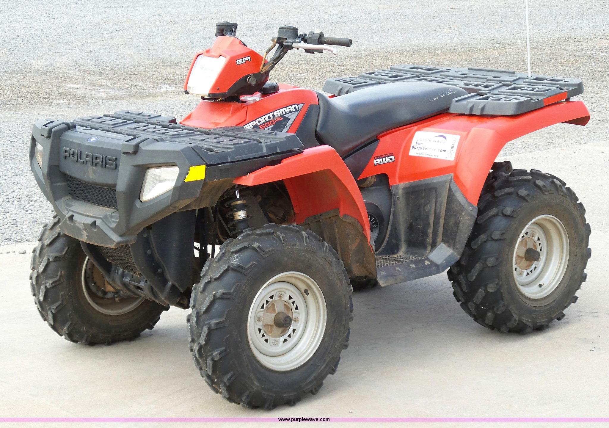 2008 polaris sportsman 500 atv item db4537 sold septemb. Black Bedroom Furniture Sets. Home Design Ideas