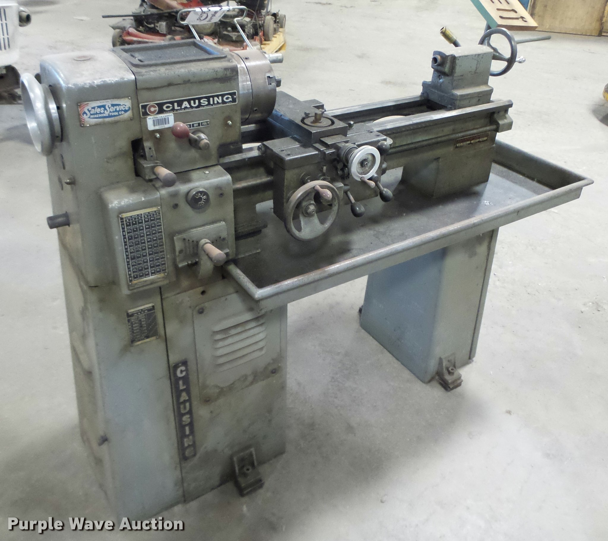 Clausing metal lathe | Item K2109 | SOLD! October 4 Governme