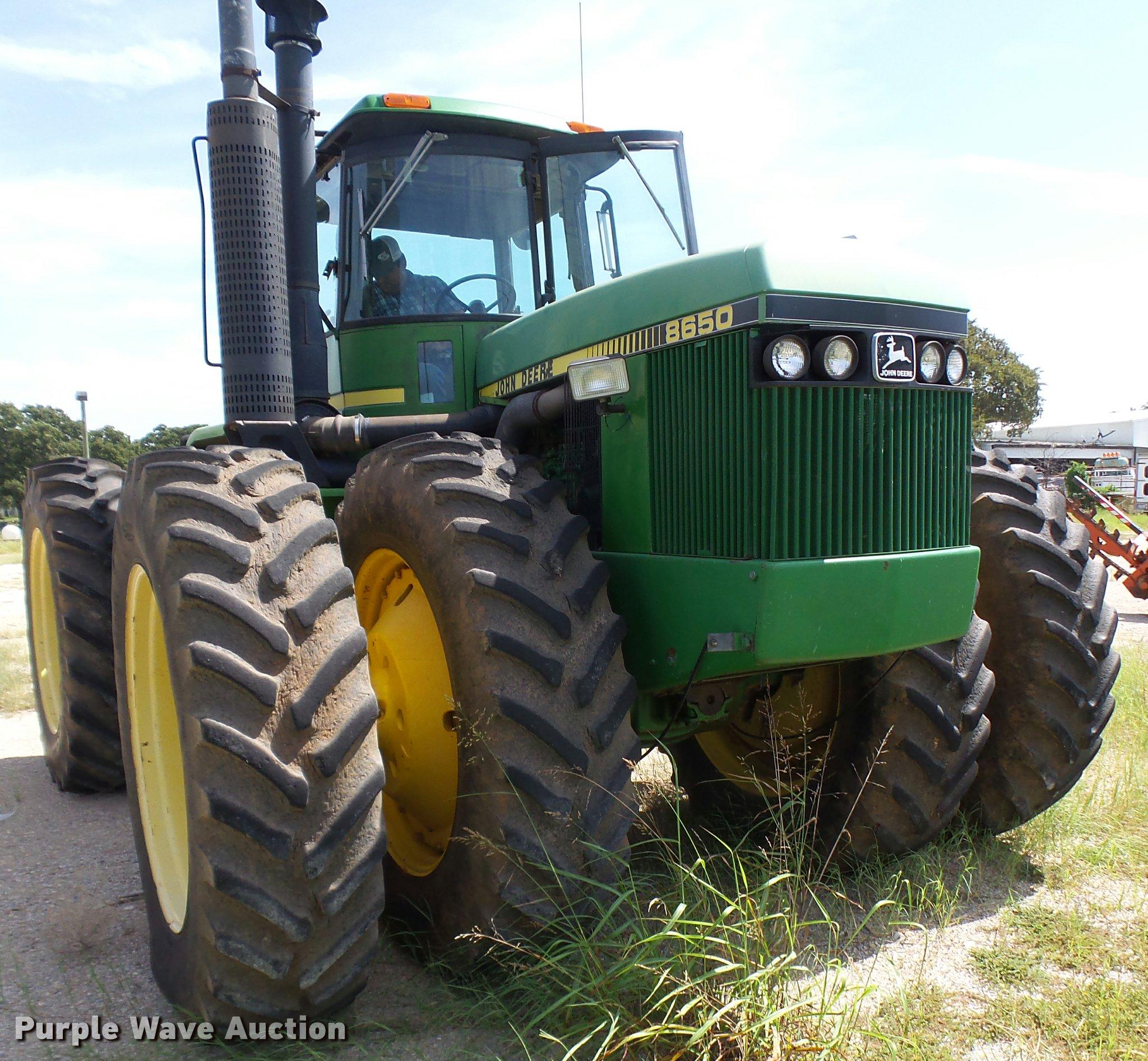 ... John Deere 8650 4WD tractor Full size in new window ...