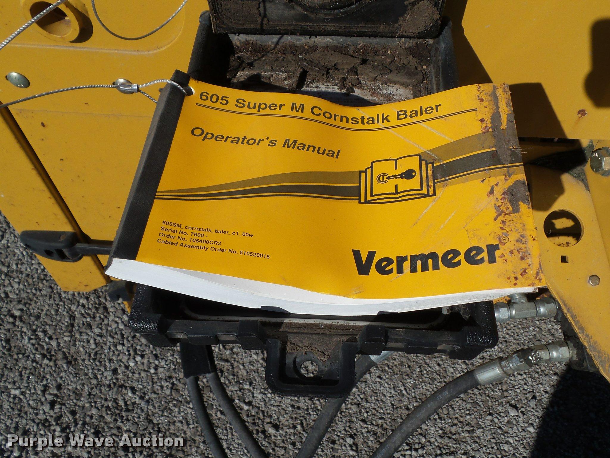 2014 Vermeer 605 Super M Cornstalk Special round baler | Ite... on