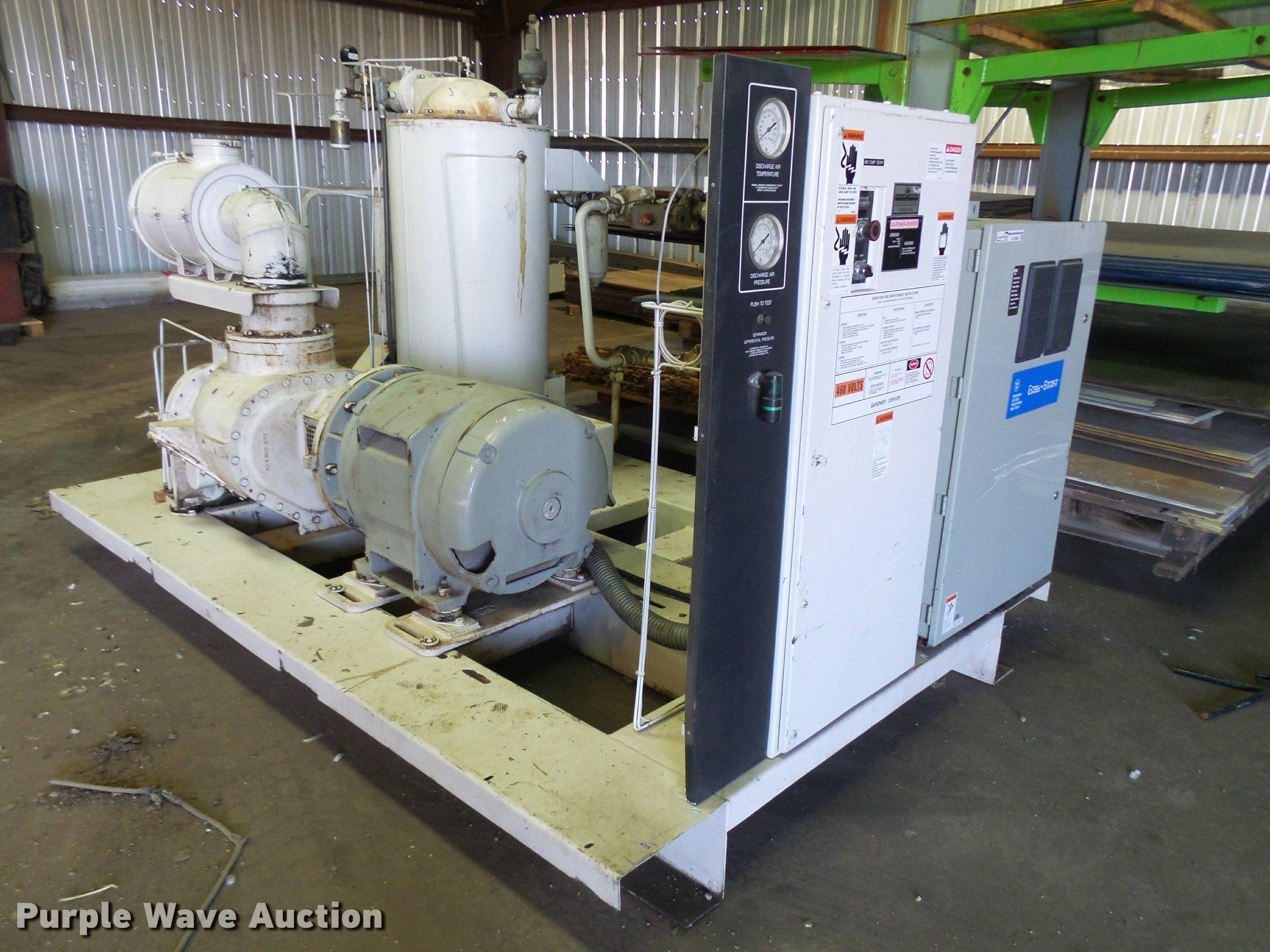 Gardner Denver Compressor Item Ca9965 Sold October 26 V Motor Wiring Diagram Image For