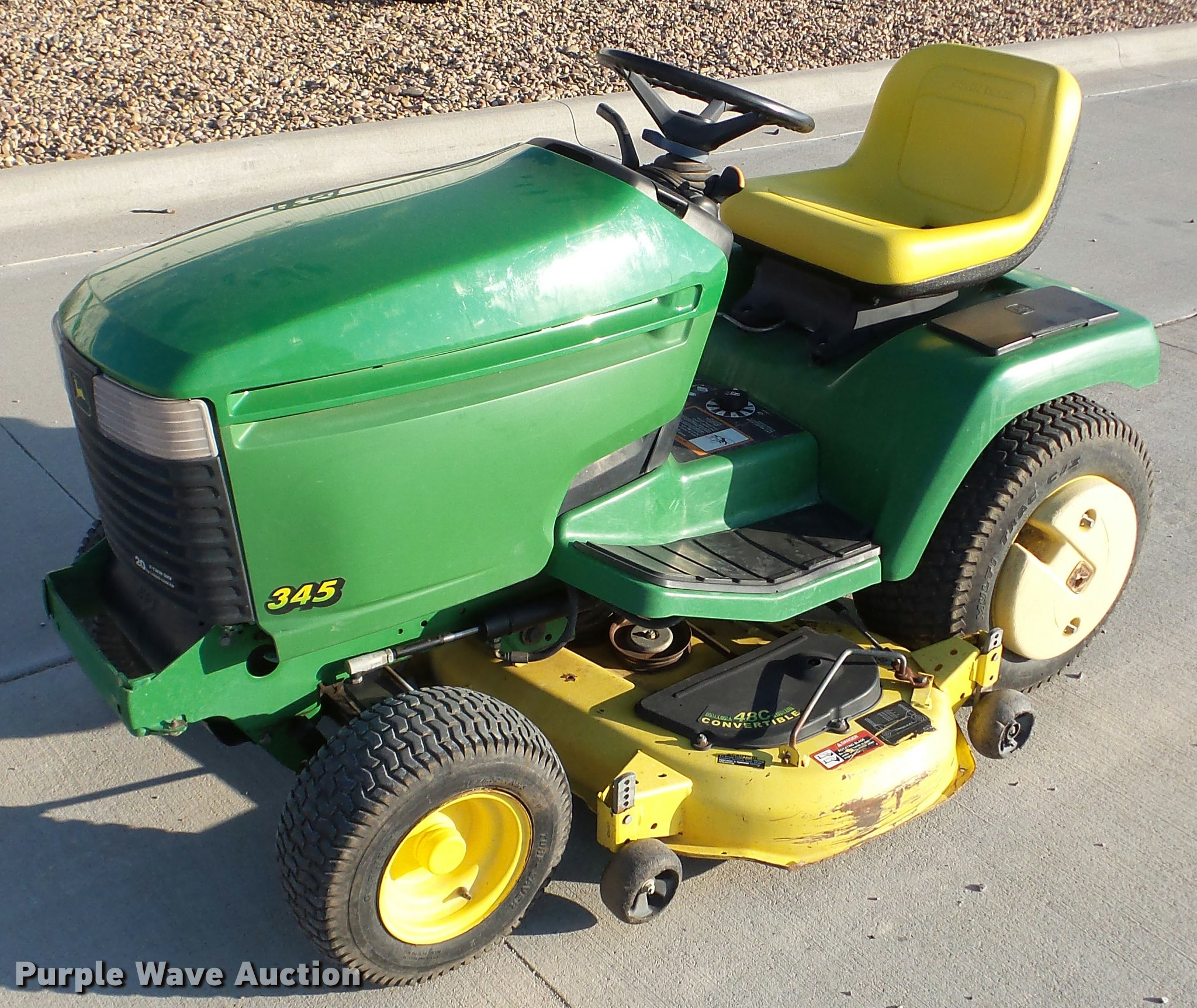 DA2906 image for item DA2906 John Deere 345 lawn mower