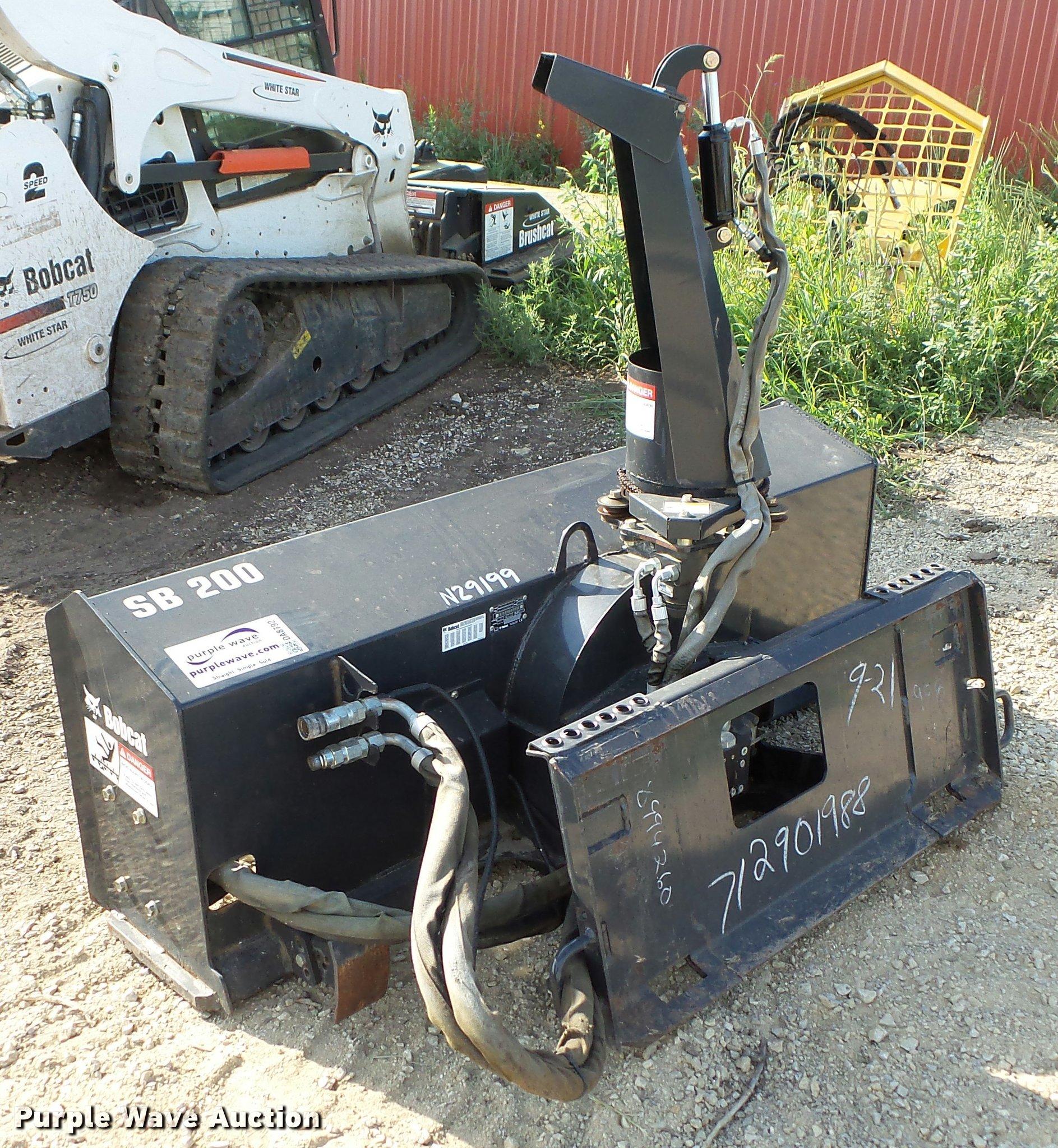 2007 Bobcat SB200 snow blower | Item DA8792 | SOLD! October